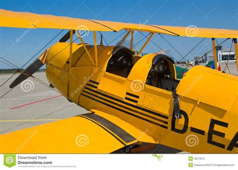 old yellow old yellow biplane stock photos image 4977673