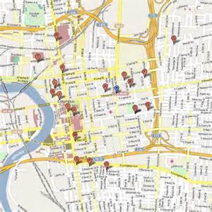Map Downtown Columbus Ohio