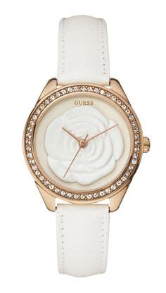 Guess 20563 Gold White designer watches on skeleton watches