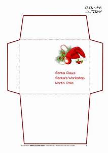 Printable letter to santa claus envelope template santa hat 2 for Christmas letter envelopes