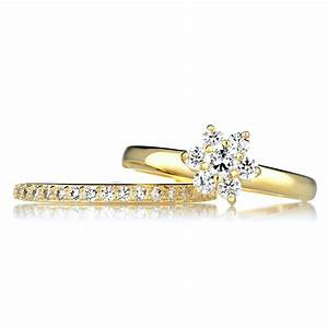 Wedding rings diamond engagement rings womens wedding for Cheap bridal wedding ring sets