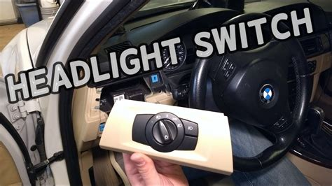 replace headlight switch bmw     youtube