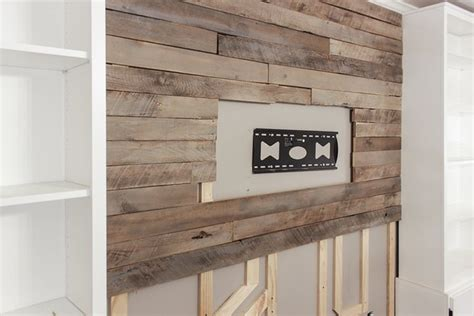 create  wood pallet accent wall hunker