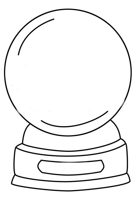 snow globe template snow globe coloring pages getcoloringpages