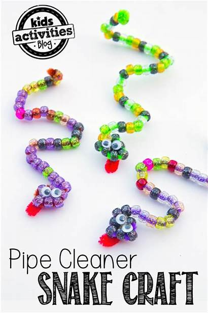 Pipe Cleaner Craft Snakes Activities Beaded Snake