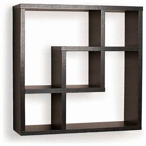 Geometric Square Wall Shelf with 5 Openings - Contemporary