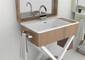 my bag ou le lavabo salle de bain portatif design feria With lavabo salle de bain design