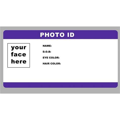 create id card template blank id card template photoid template by rookstock is