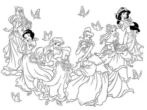 disegni disney principesse disegni da colorare le principesse