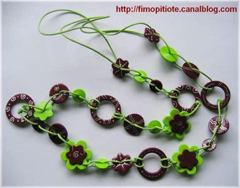 collier en pate fimo bijoux pate fimo collier bracelet bo 30 photo de