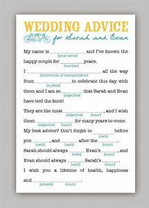 wedding advice mad libs wedding ideas pinterest With wedding advice cards funny printable