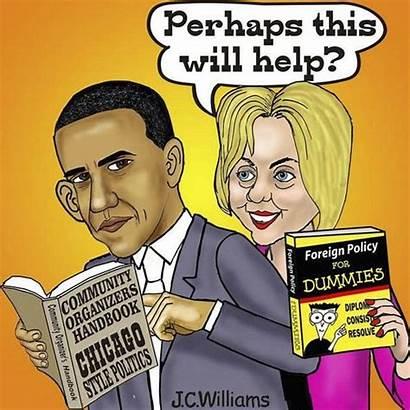 Obama Foreign Policy Political Politics Plan Cartoon