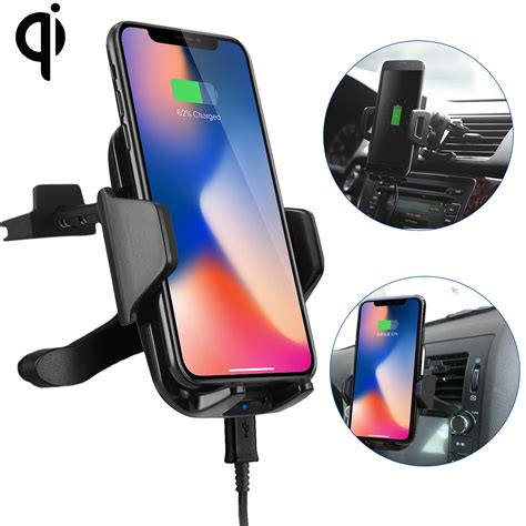 iphone 8 qi qi wireless car fast charger phone mount holder for iphone 8 x samsung galaxy s9 ebay