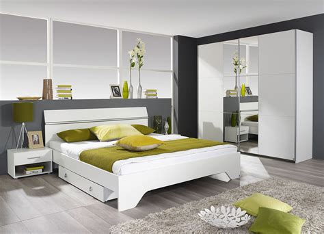 chambre a chambre adulte contemporaine coloris blanc