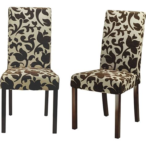 patterned dining room chairs for the home