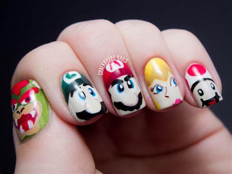 Nail Art :  Mario Character Nail Art