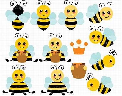 Bee Bumble Bees Clipart Vector Buzzy Svg
