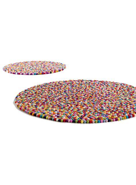 tapis rond multicolore femandm