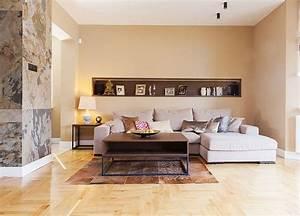 Wohnzimmer Wandgestaltung Farbe : wandgestaltung im wohnzimmer 85 ideen und beispiele ~ Markanthonyermac.com Haus und Dekorationen