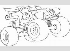 Coloriage Monster Truck Batman à imprimer
