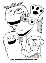 Puppet Coloring Pages Puppets Master Mucket Wump Colouring Printable Getcolorings Getdrawings Hand sketch template