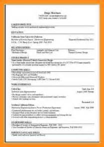 curriculum vitae template computer science 4 computer science cv template parts of resume