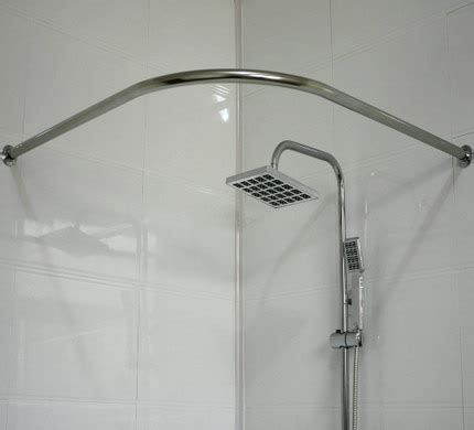 L Shaped Drapery Rod - thick stainless steel u shaped curved shower curtain
