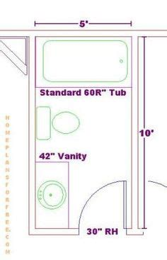5x9 Or 5x8 Bathroom Plans  34 Bathroom Layouts