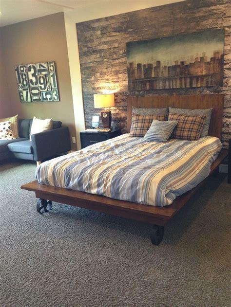 Bedroom Small Bedroom Ideas For Men Gray Carpet Rustic