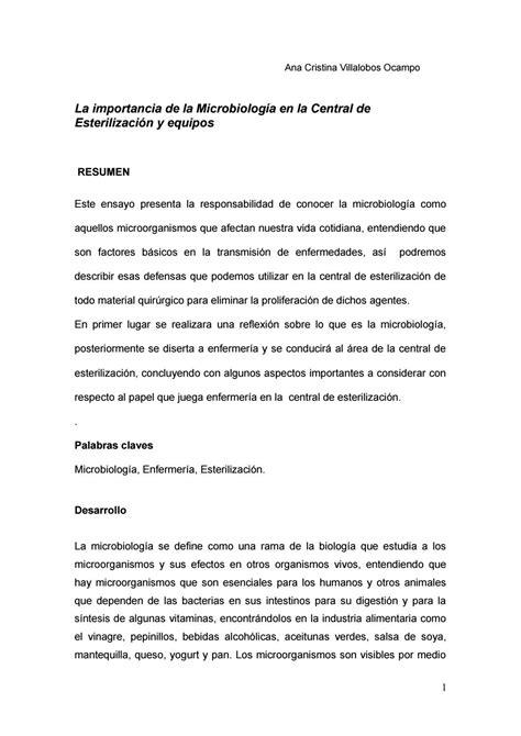 ensayo de microbiologia  ana cristina issuu