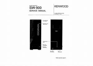 Service Manual For Kenwood Sw-900