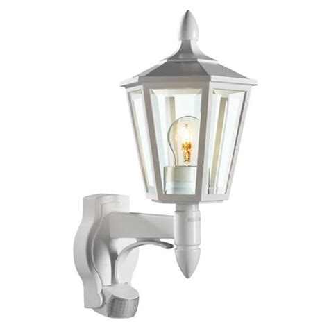 traditional pir wall light l15 white the lighting superstore