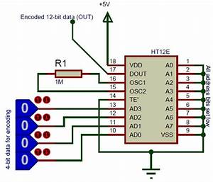 Ht12e Encoder Ic Pin Diagram  Uses  Equivalents  U0026 Datasheet