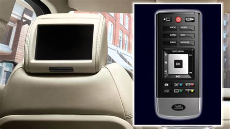 range rover evoque  rear seat entertainment youtube