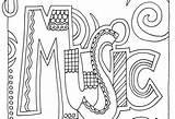 Coloring Binder Pages Doodle Alley Music Subject Printable Getcolorings Getdrawings sketch template