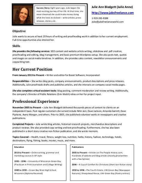 freelance resume writing 33703 plgsa org resume