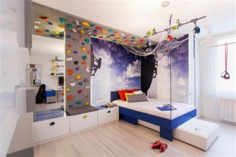 cool teen bedroom ideas that will your mind 35 cool teen bedroom ideas that will blow your mind 35 | Rock climbing theme for teen bedroom