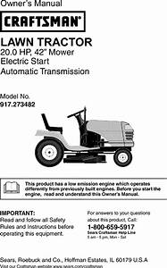 Craftsman 917273482 User Manual Lawn Tractor Manuals And