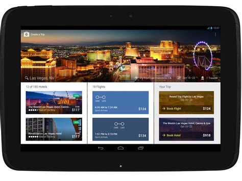 free apps for android tablets expedia android app updated with tablet support