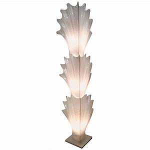 rougier seashell shell monumental vintage floor lamp With pink feather floor lamp