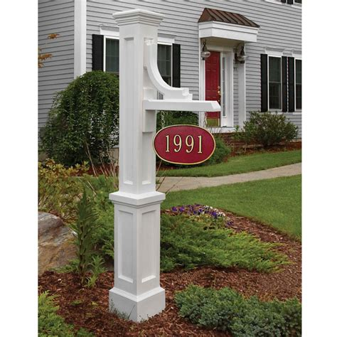 house number sign for l post woodhaven white address sign post mayne address posts