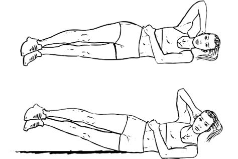 Modified Bicycle Exercise by 10 Exercices Pour Prendre En Volume