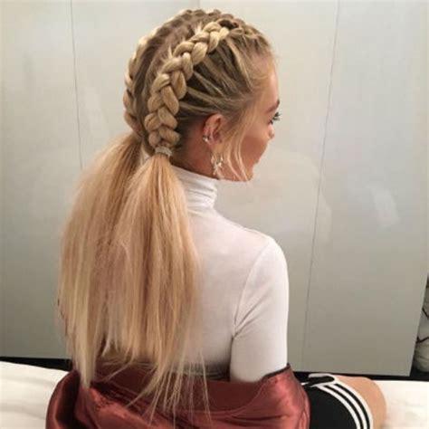 plait hair style coiffure 233 t 233 les tresses coll 233 es 30 coiffures 224 5053