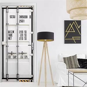 Sticker porte Container trompe l'oeil décoration intérieure