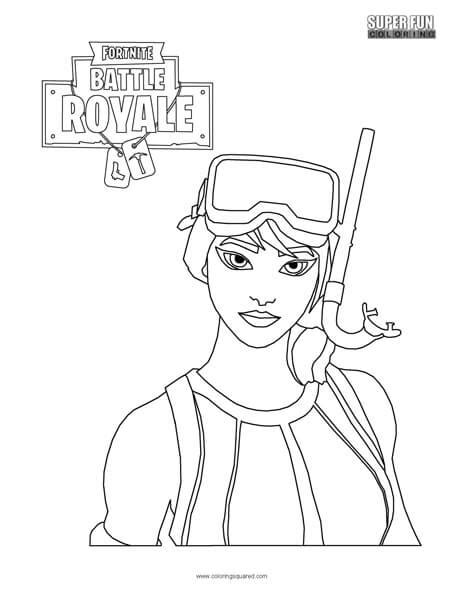 fortnite character coloring page super fun coloring
