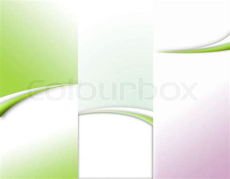 trifold template school empty custom tri fold brochure template works stock photo