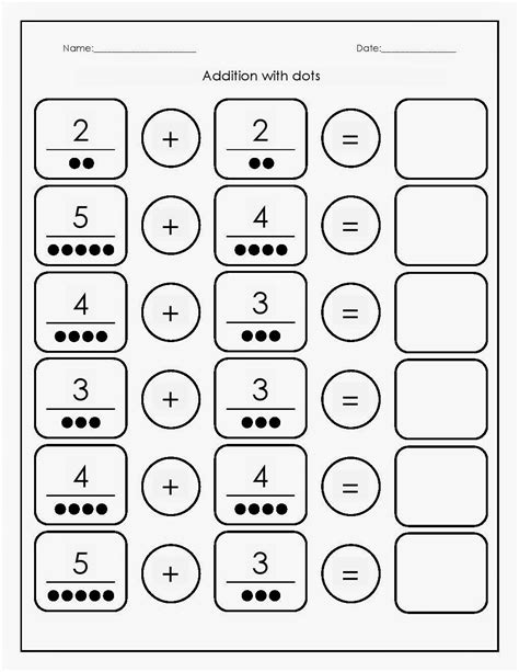 preschool math worksheets addition printable pdf