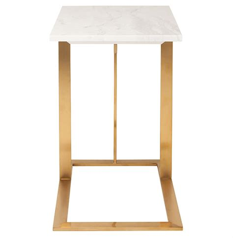 gold and marble end table rosalie hollywood regency gold steel white marble side end