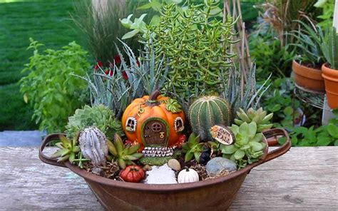 learn how to make this fall fairy garden container garden lovers club