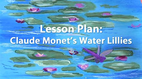 Oil Pastel Tutorial Inspired By Monet's Water Lillies